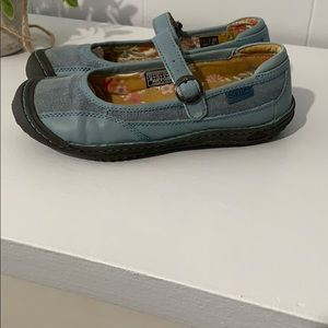 Keen Cush Blue Mary Jane Slip-Ons